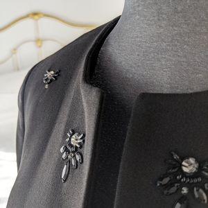 Kasper - beaded black blazer
